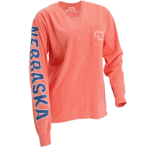 Oversized Good Life Boyfriend Fit Tee by RZR - Salmon - LS