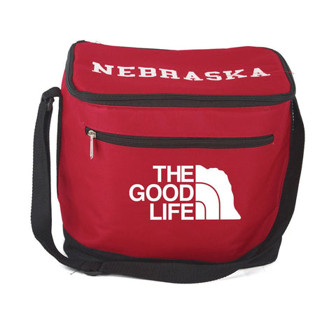 Nebraska 12 Pack Cooler Bag by RZR - Red