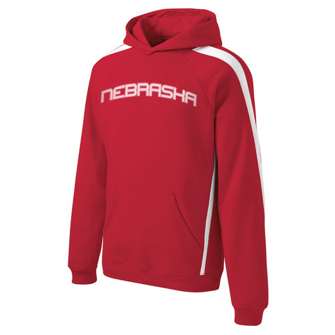 Red Accent Nebraska Hoody by RZR - Red - LS