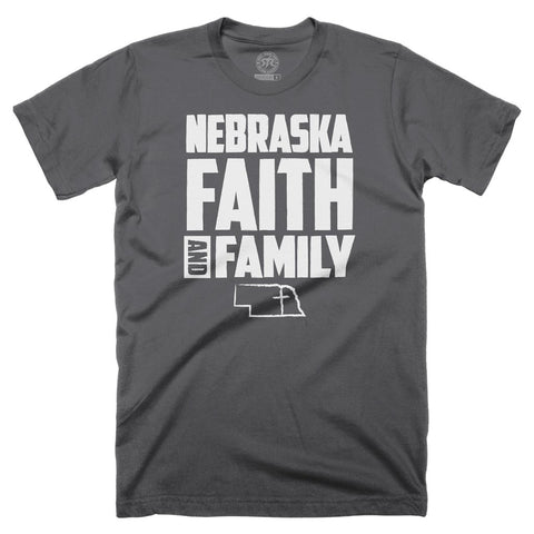 Nebraska Faith Family  by RZR - Graphite - SS