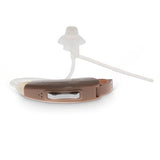 Simple Ear® Elan, hearing aid, behind the ear programmable hearing device, beige, horizontal view