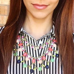 Candy Bright Crystals Bib Necklace
