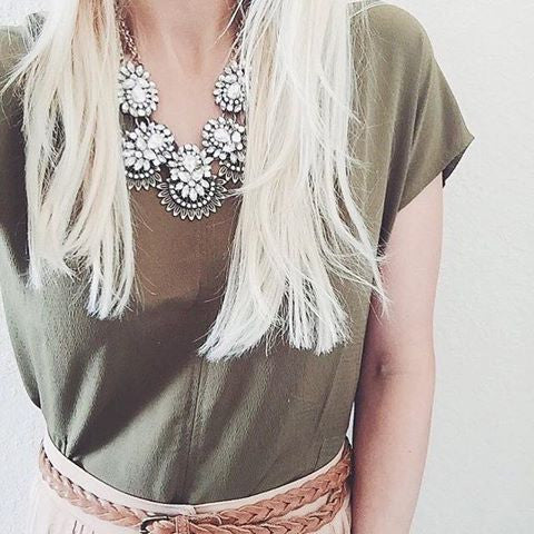 Crystal Rays Two Chain Necklace