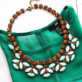 Luxe Mint Stone Statement Necklace