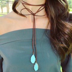 Georgia Stone Wrap Choker Necklace