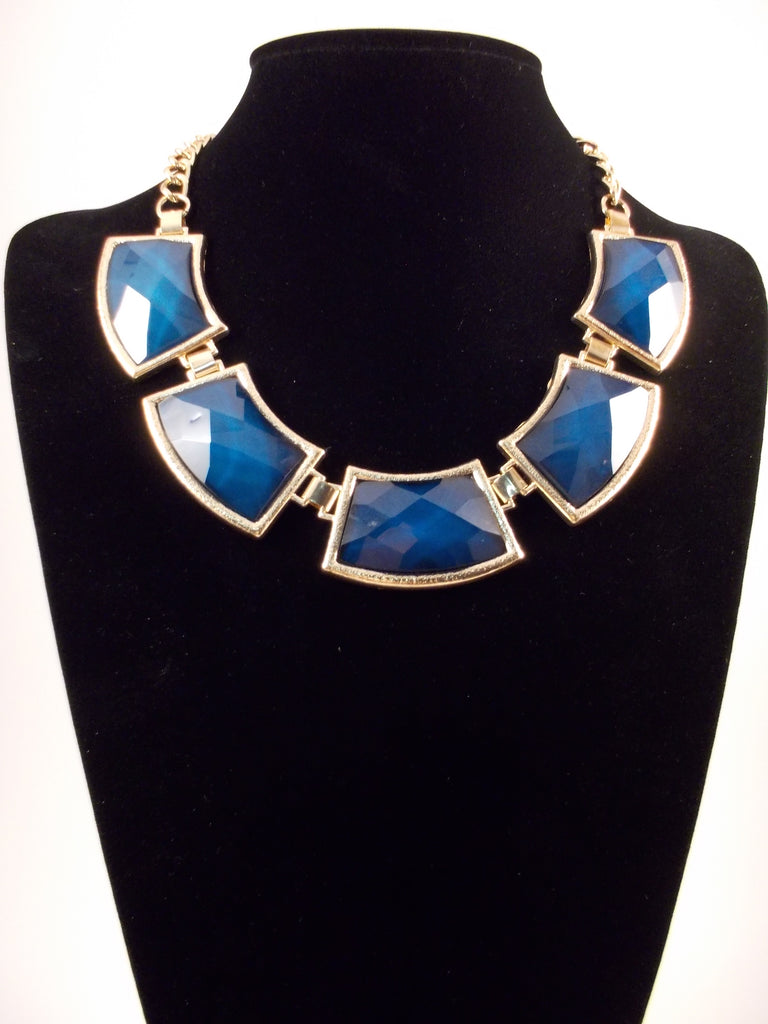 Navy Statement Necklace