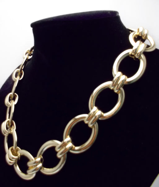 Chain Linked Gold Plated Necklace