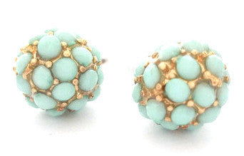 Pavé Dot Earrings- Mint