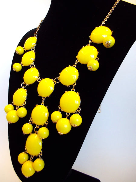 Bubble Statement Necklace- Yellow