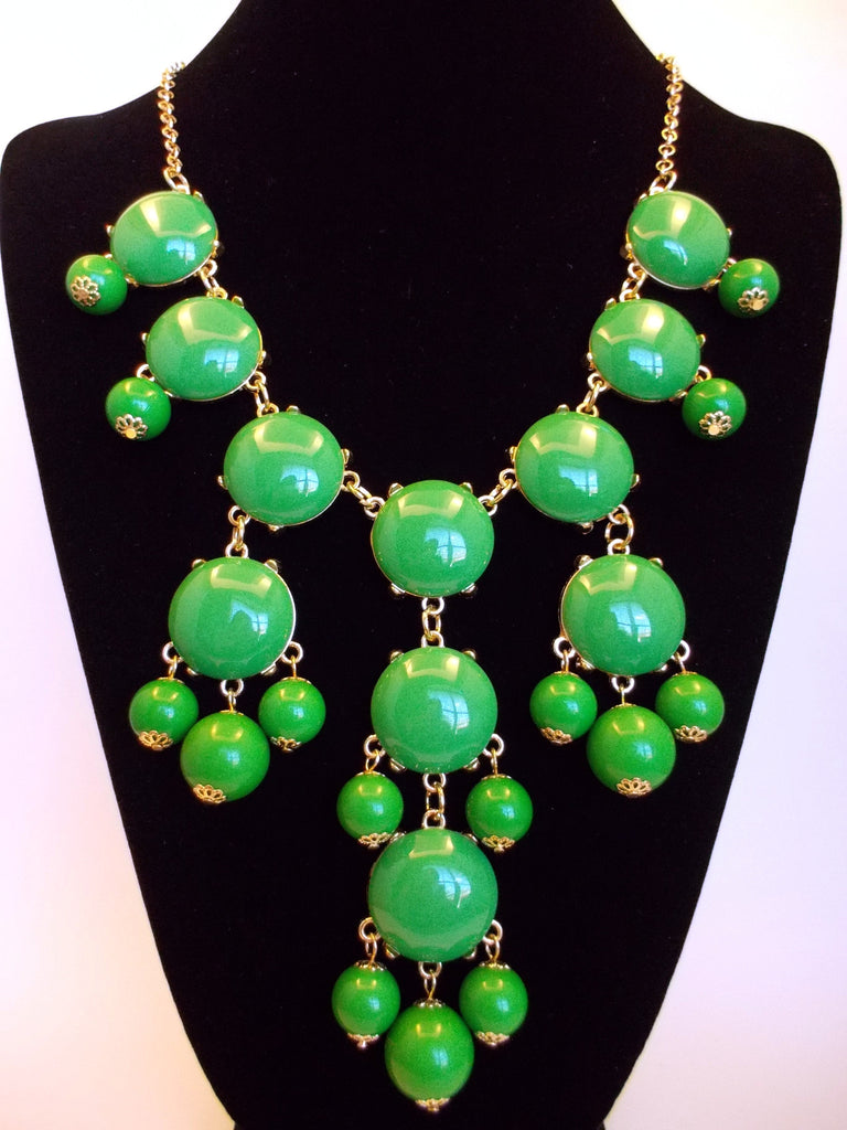 Bubble Statement Necklace- Green