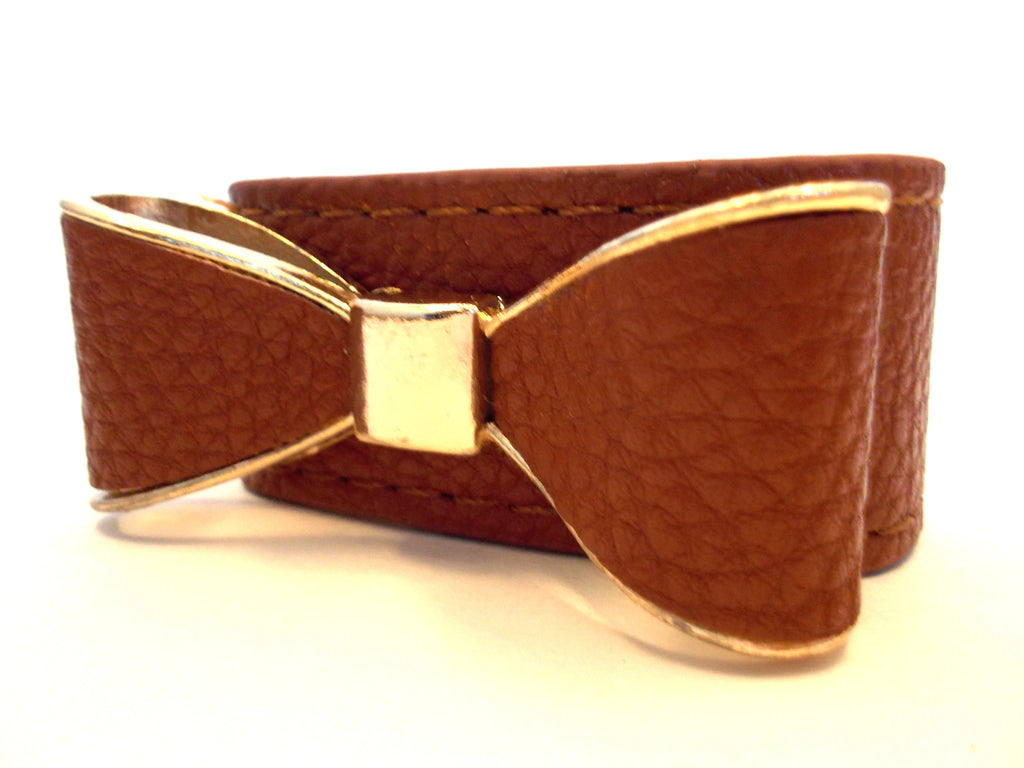 Leatherette Bow Bracelets- 3 Color Options