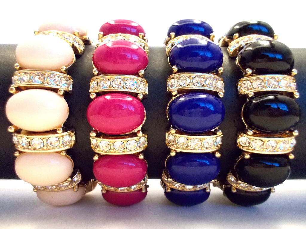 Designer Inspired Bauble Crystal Stretch Bracelet