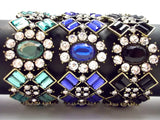 Luxe Crystal Cluster Stretch Bracelet- 2 Color Options