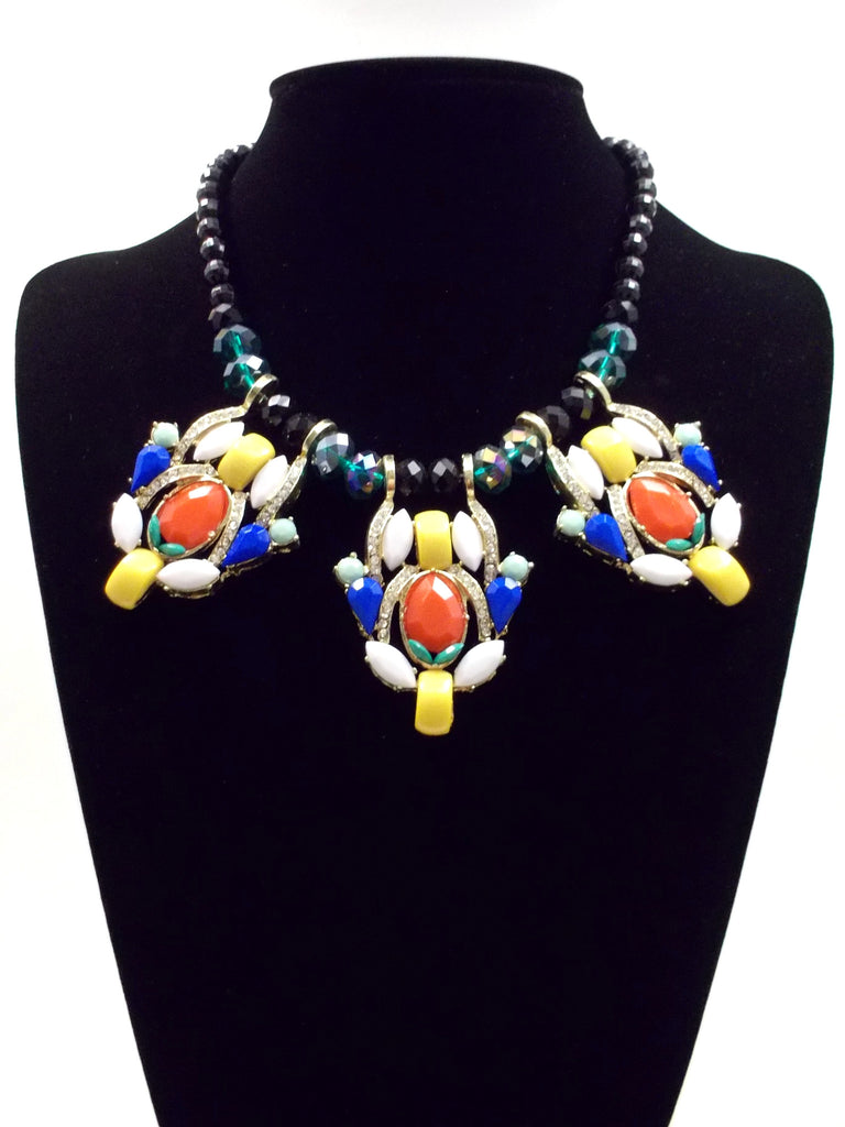 Fiesta Crystal Beaded Statement Necklace