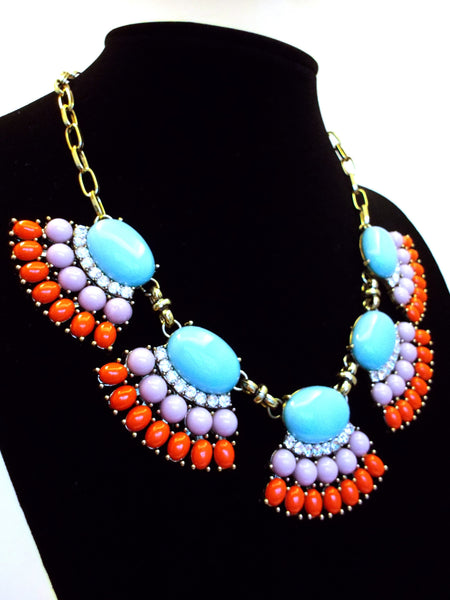 Fan Fringe Statement Necklace