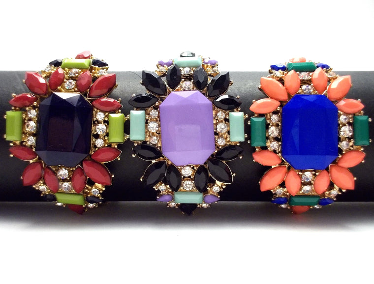Acrylic Crystal Jeweled Bracelet