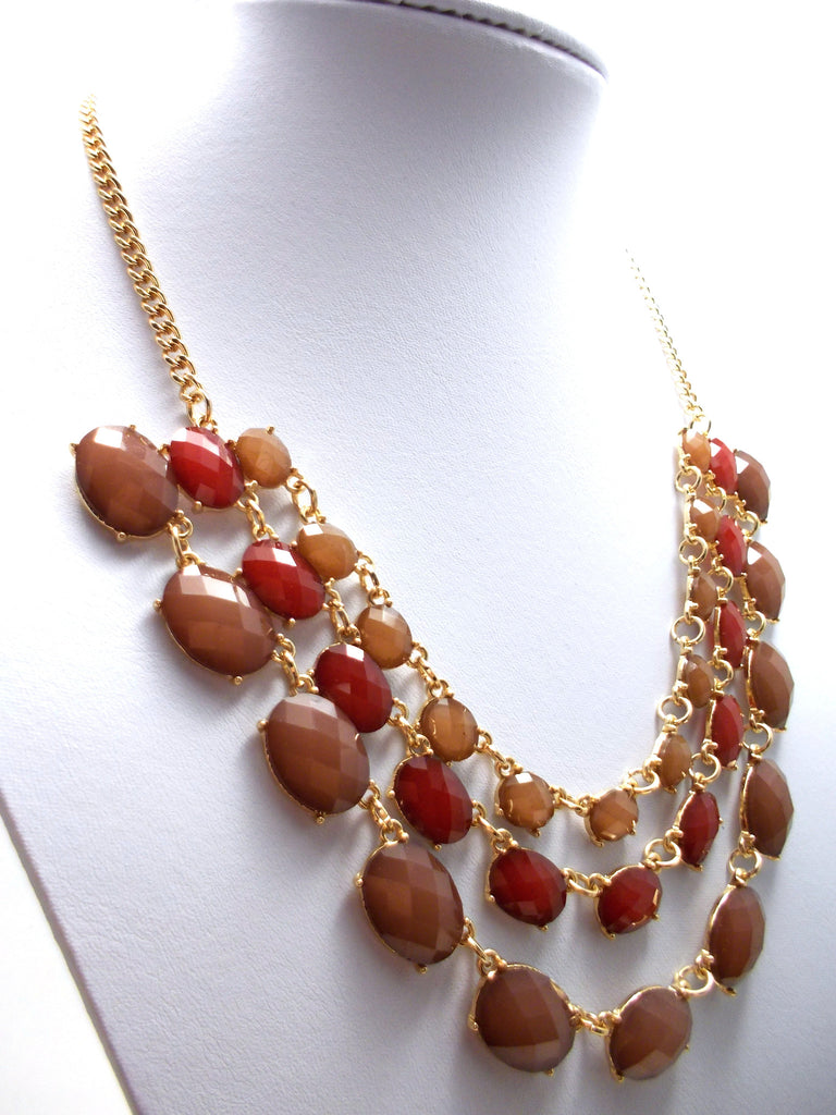 Layered Jeweled Statement Necklace