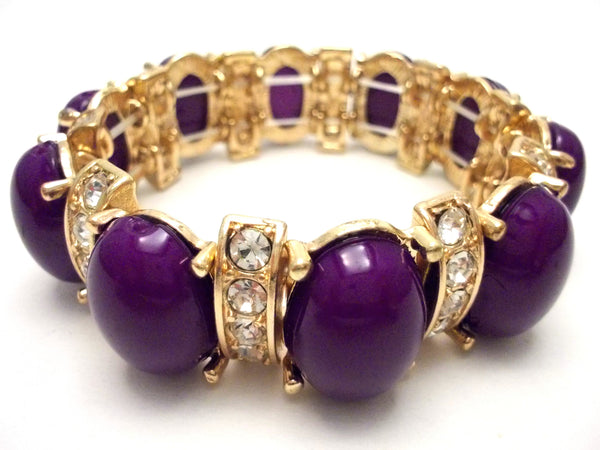 Designer Inspired Bauble Crystal Stretch Bracelet-2 NEW Colors Options