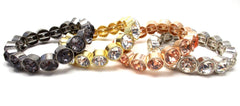 Essential Rhinestone Stretch Bracelet- 4 Color Options