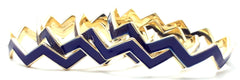 Chevron Bangles Set of 4- Navy