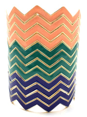 Chevron Bangles Set of 4- Peach