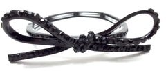 Sparkling Bow Stretch Bracelet- Black
