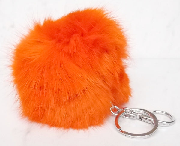 Faux POM Charm/Keychain Large- Orange