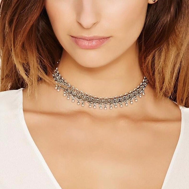 Charlotte Blooms Choker Necklace