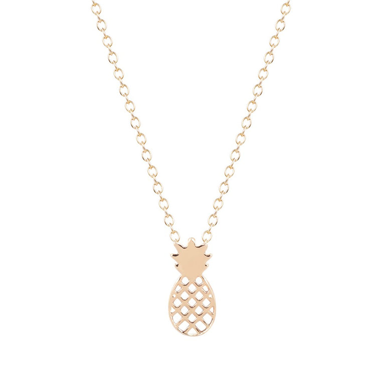 Pineapple Pendant Dainty Necklace- Gold