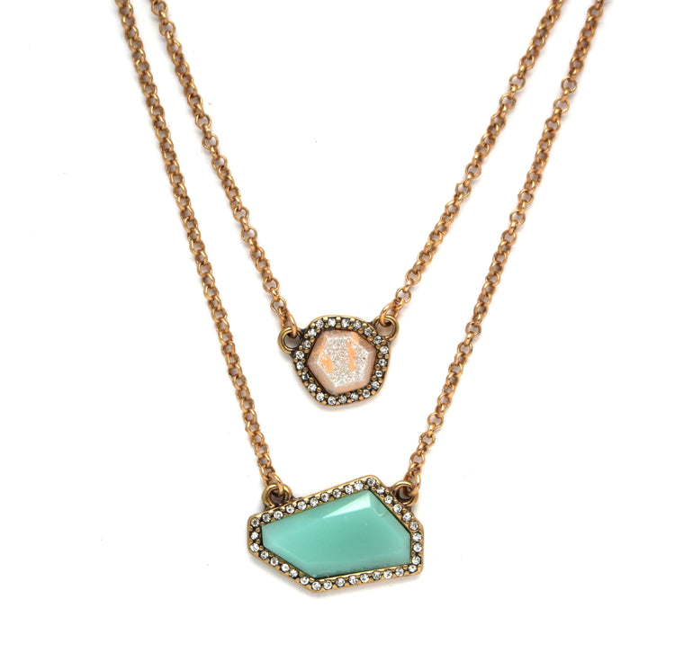Isla Stone & Crystal Layered Necklace