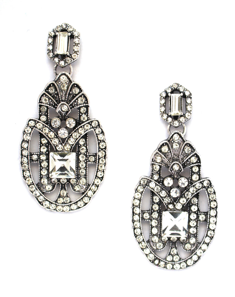 Tessa Bling Statement Earrings