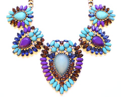 Chunky Boho Stone Statement Necklace