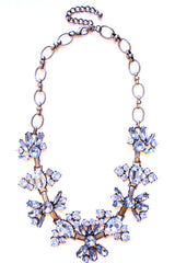 Vintage Inspired Crystal Statement Necklace