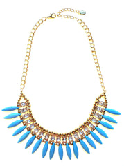 Turquoise Spike & Sparkle Necklace