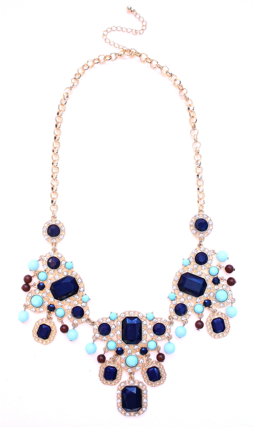Vintage Inspired Beaded Jeweled Statement Necklace