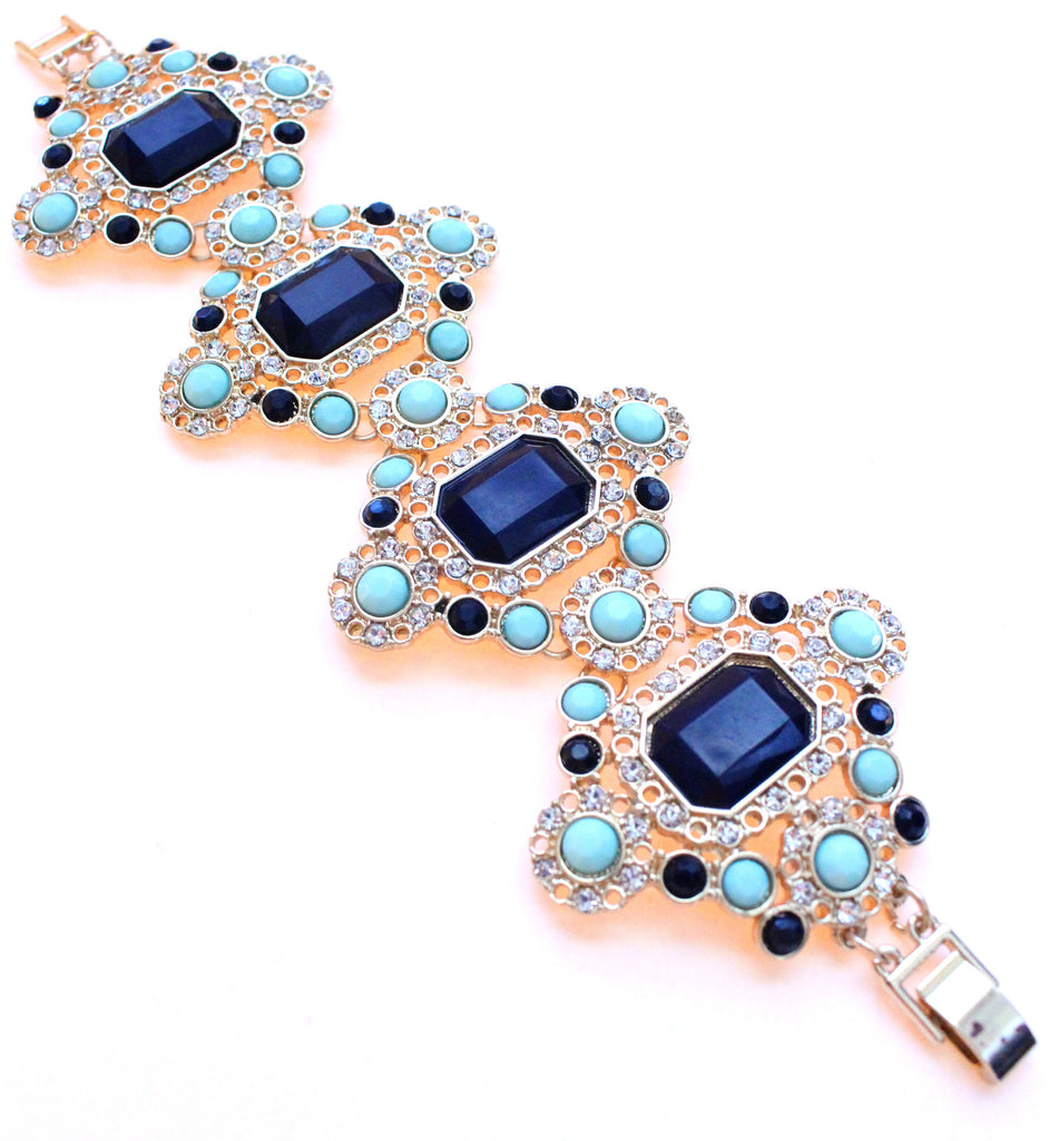 Vintage Inspired Jeweled Bracelet