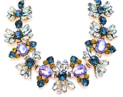 Luxe Vintage Inspired Crystal Statement Necklace