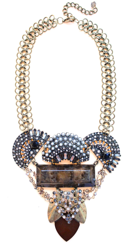 Luxe Crystal Frosting Statement Necklace