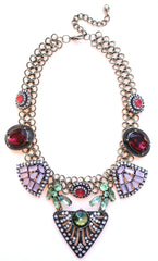 Luxe Crystal Mix Stone Statement Necklace