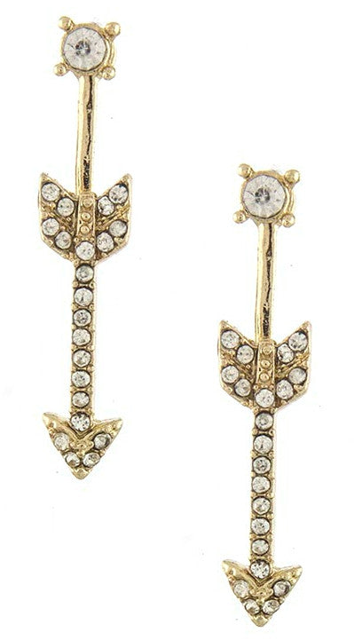 Arrow Bar Ear Jackets- Gold