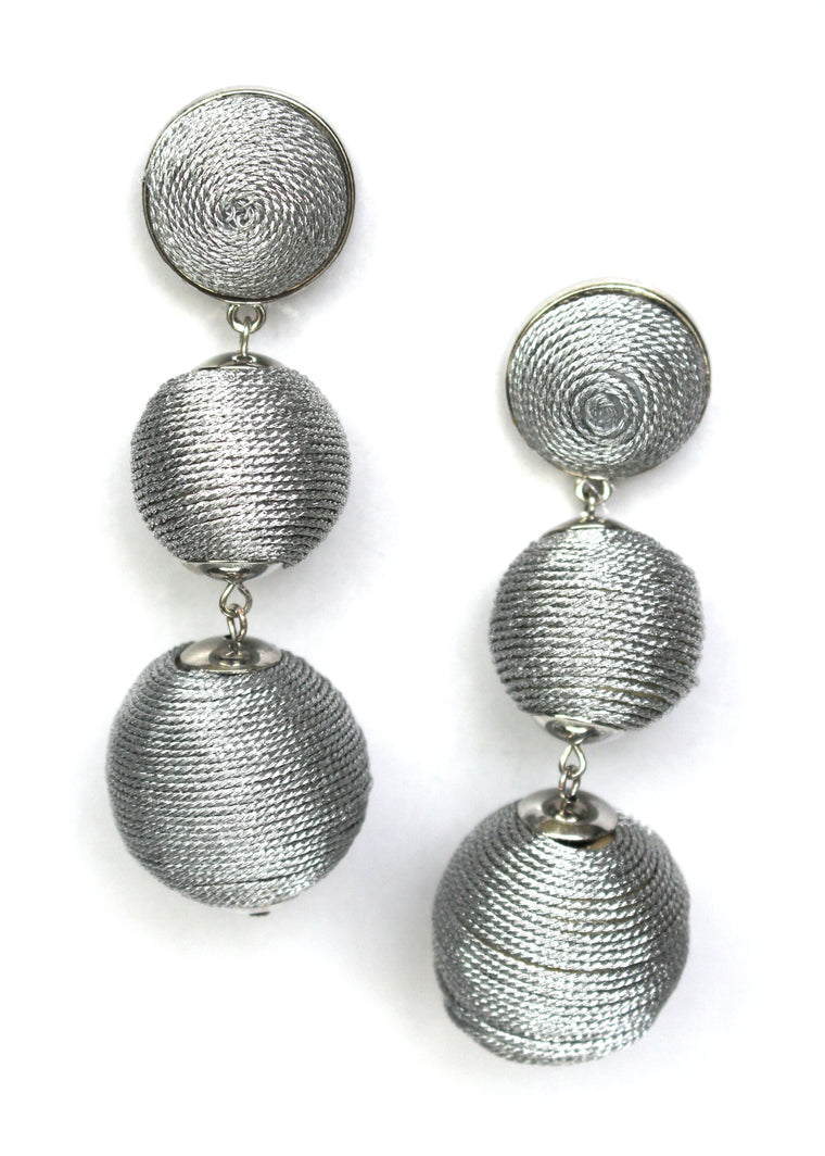 Shimmer Lee Drop Earrings- Silver