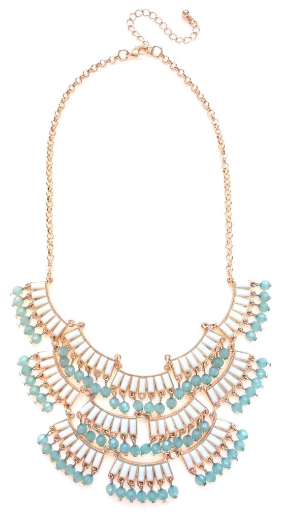 Layered Boho Fringe Statement Necklace