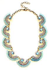 Luxe Mint Fan Statement Necklace