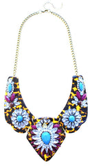 Luxe Tortoise & Crystal Statement Necklace