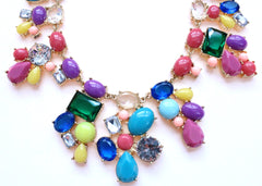 Candy Color Mix Statement Necklace