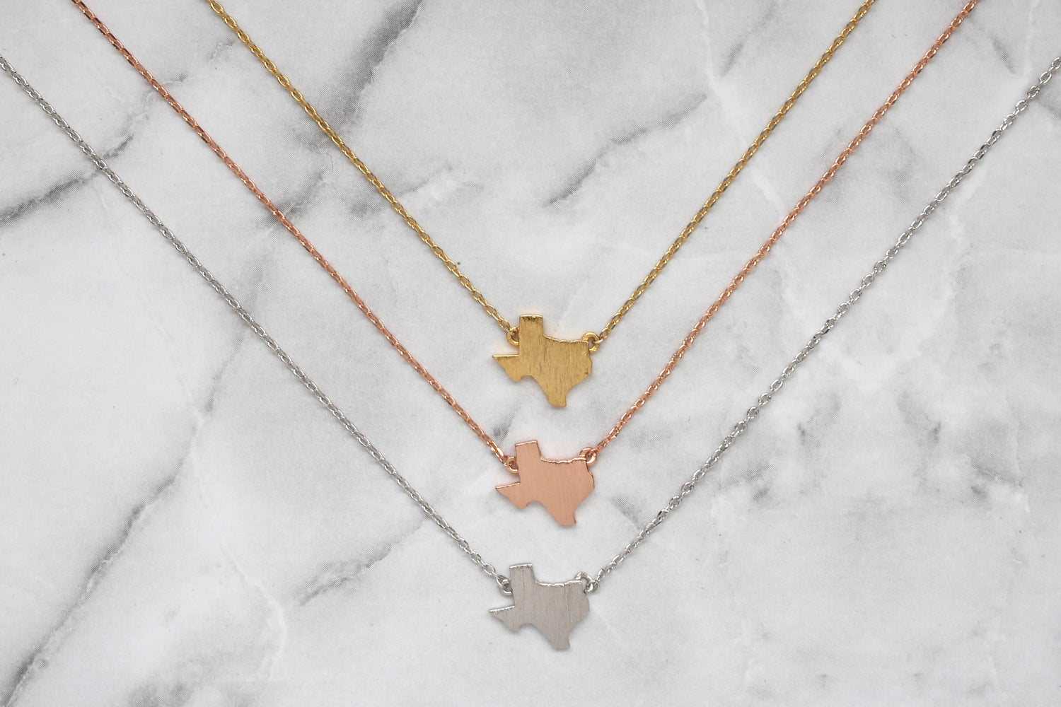 Dainty Texas Love Necklace- 3 COLOR OPTIONS