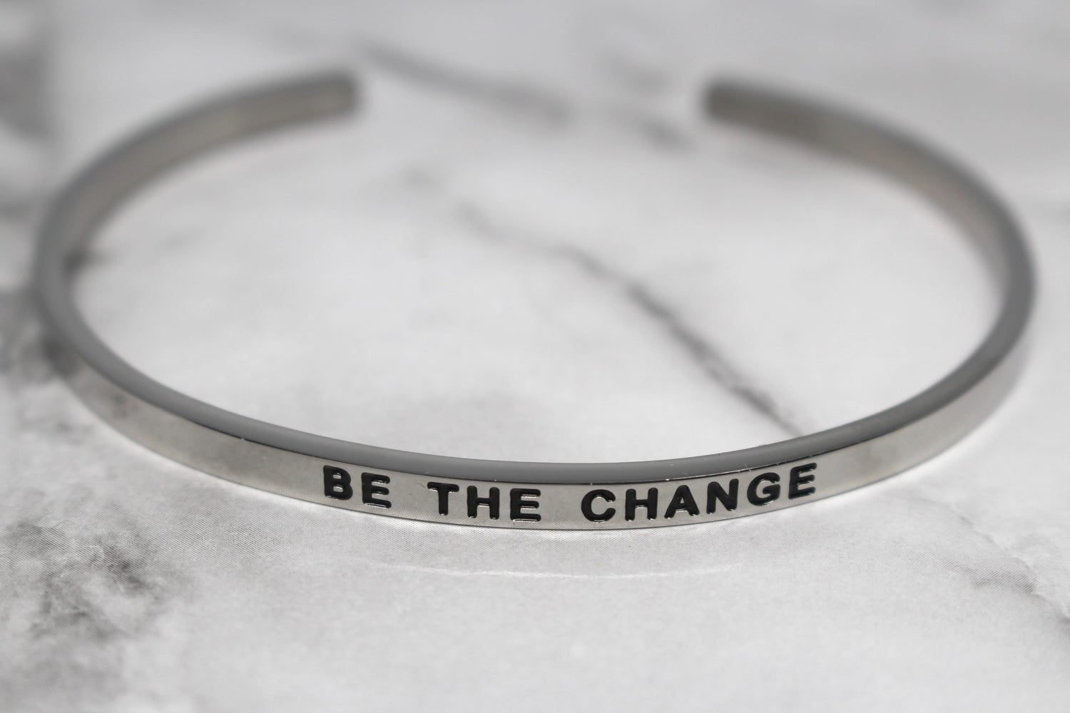 BE THE CHANGE* Cuff Bracelet- Silver