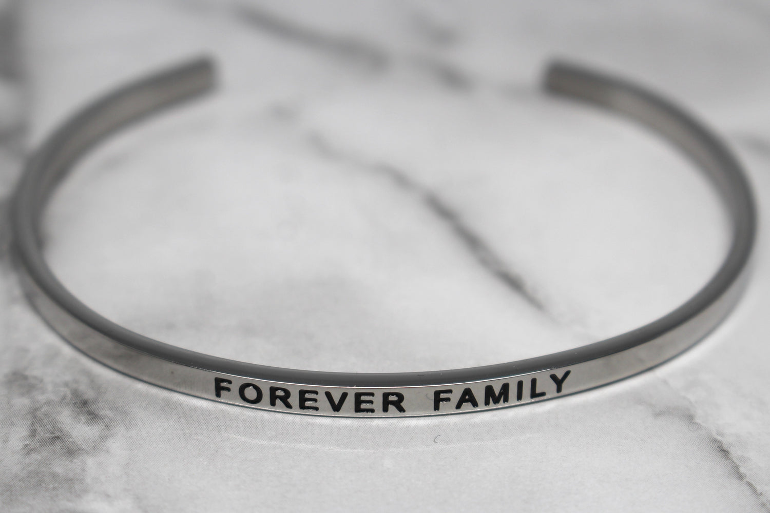 FOREVER FAMILY* Cuff Bracelet- Silver