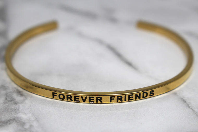 FOREVER FRIENDS* Cuff Bracelet- Gold