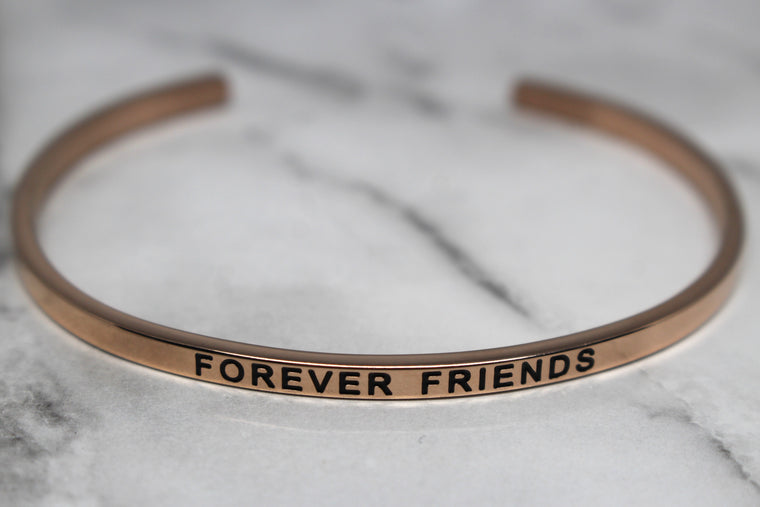 FOREVER FRIENDS* Cuff Bracelet- Rose Gold